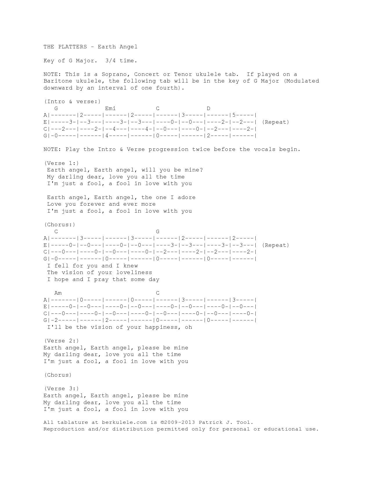 Earth angel ukulele tab stairway to honolulu earthangeluke hexwebz Image collections